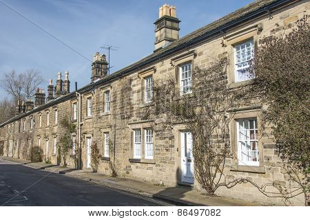 Row Of Cottages In Bakewell, Derbyshire