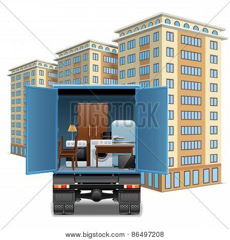 Vector Furniture Transportation