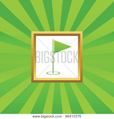Flagstick picture icon