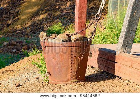 Bucket With Stones