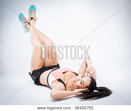 Exercise Girl Leg Ups