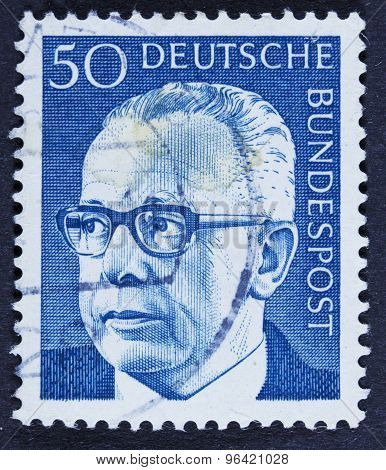 Former German leader on a postage stamp