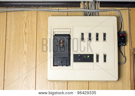 Residential distribution board of main capacity up to 40 ampere in Japan poster