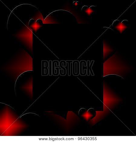 red hot heart illustration