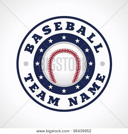 Baseball vector logo. Branding symbol of teams, national competitions, union, matches, leagues or sport equipment shop. Children's schools, kid's sport clubs or junior's tour icon.
