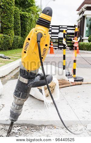 Jackhammer On Road / Jackhammer To Repair Road