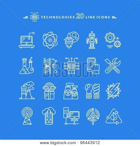 Technologies White Icons