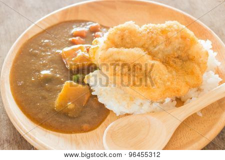 Curry Rice With Fried Pork