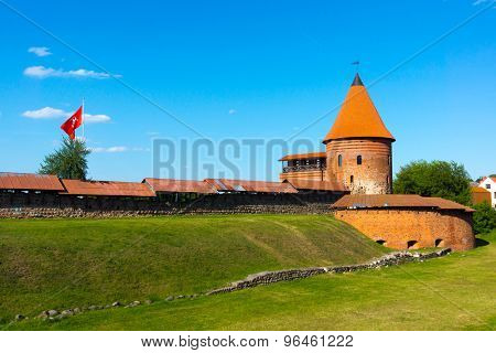 The medieval castle in Kaunas, Lithuania at day time