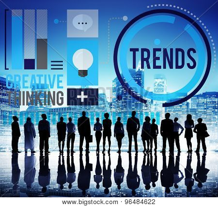 Trends Fashion Marketing Contemporary Trending Concept poster