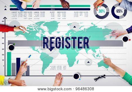 Register Application Enlist Sign Up Join Concept