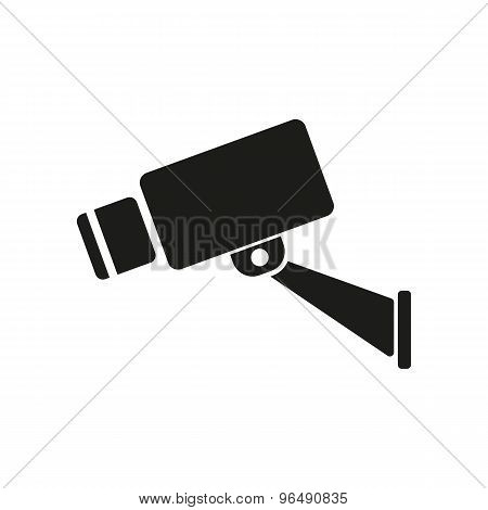 The cctv icon. Camera and surveillance, security, observation symbol. Flat Vector illustration poster