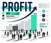 Profit Finance Data Analysis Money Accumulation Concept poster
