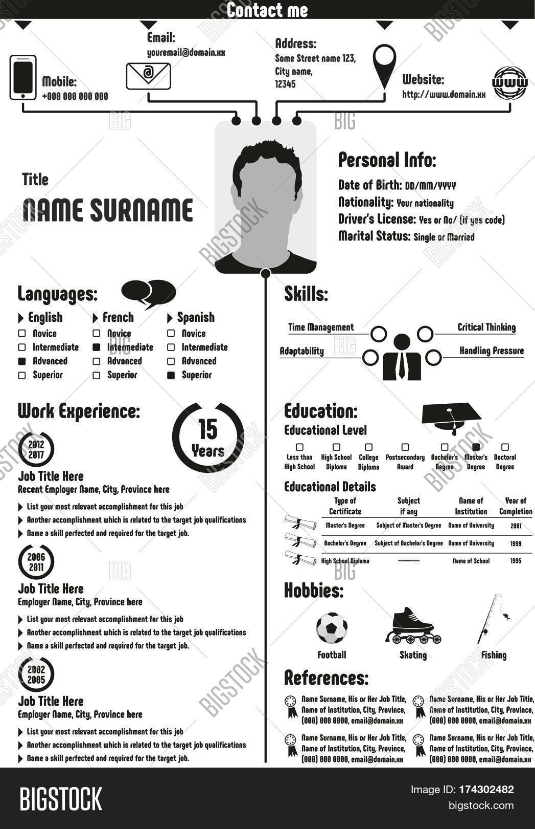 cv curriculum vitae image  u0026 photo  free trial