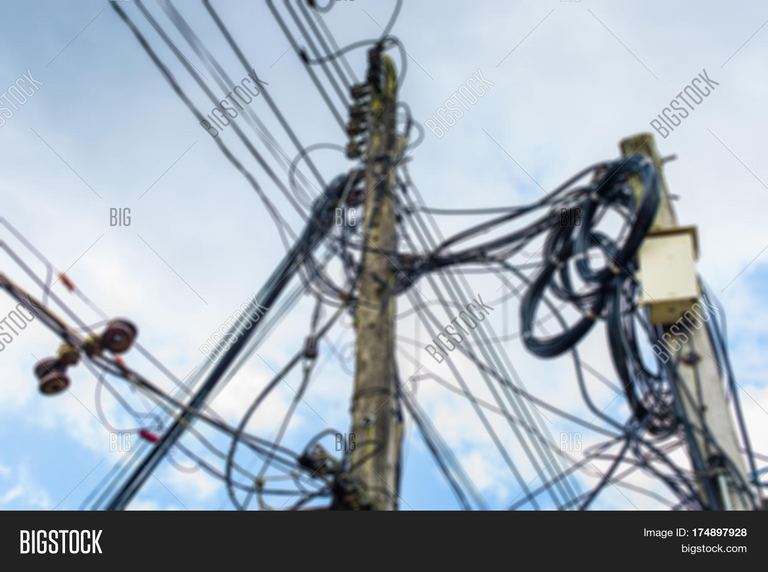 Blurred High Voltage Image & Photo (Free Trial) | Bigstock