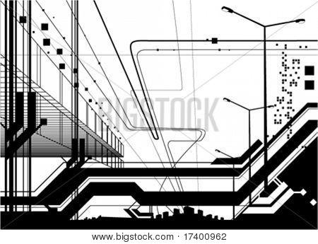 architectural modern design vector