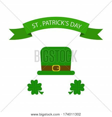 St. Patrick's Day vector design elements set. Festival treasure st patrick day icons shamrock lucky spring. Beer happy celebration decoration. Ireland holiday patrick day leprechaun symbols.