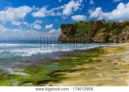 Balangan Beach in Bali Indonesia - nature vacation background