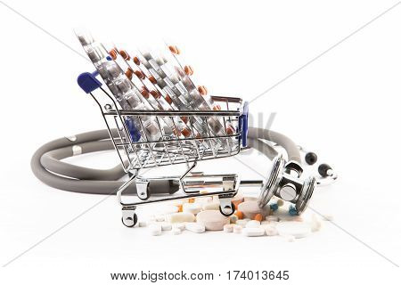 Shopping Cart Full With Medicine