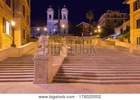 Spanish steps in Rome Italy - architecture background