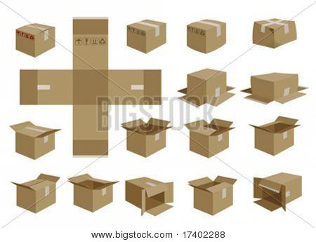 vector shipping box