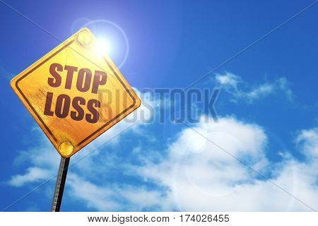 stop loss, 3D rendering, traffic sign