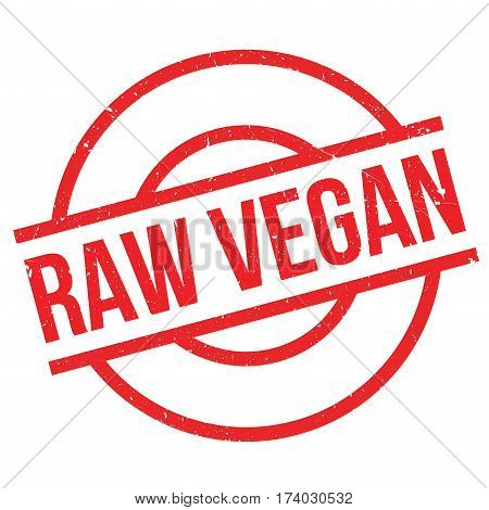Raw Vegan rubber stamp. Grunge design with dust scratches. Effects can be easily removed for a clean, crisp look. Color is easily changed.