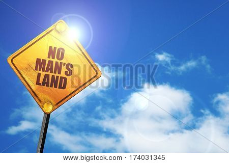 no mans land, 3D rendering, traffic sign