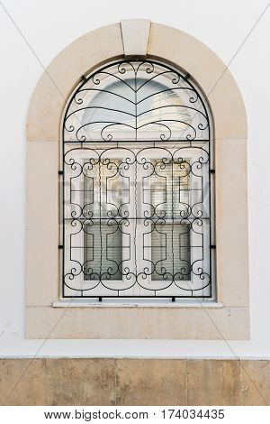 Nice vintage window on a white wall.