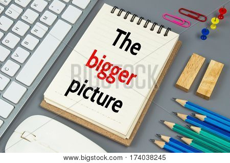 The bigger picture, Text message on white paper