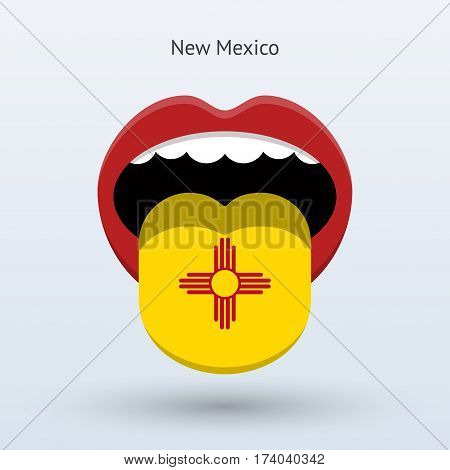 Electoral vote of New Mexico. Abstract mouth. Vector illustration.
