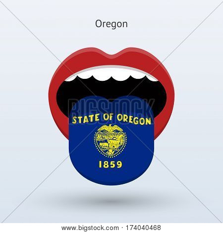 Electoral vote of Oregon. Abstract mouth. Vector illustration.