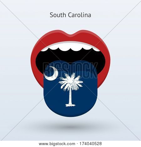 Electoral vote of South Carolina. Abstract mouth. Vector illustration.