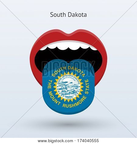 Electoral vote of South Dakota. Abstract mouth. Vector illustration.