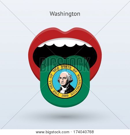 Electoral vote of Washington. Abstract mouth. Vector illustration.