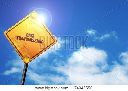 data transmission, 3D rendering, traffic sign