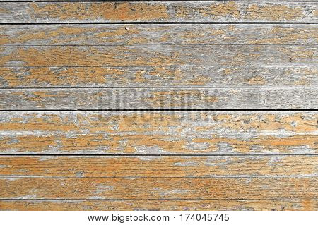 old wood floor background with rotted paint