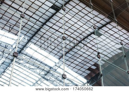 Metal Modern Glass Wall Windows Shapes Textures Architecture Indoors Building Squares Reflection Lig
