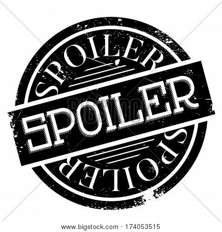Spoiler rubber stamp. Grunge design with dust scratches. Effects can be easily removed for a clean, crisp look. Color is easily changed.