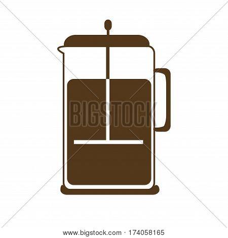 french press , coffee icon set