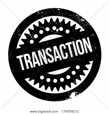 Transaction rubber stamp. Grunge design with dust scratches. Effects can be easily removed for a clean, crisp look. Color is easily changed.