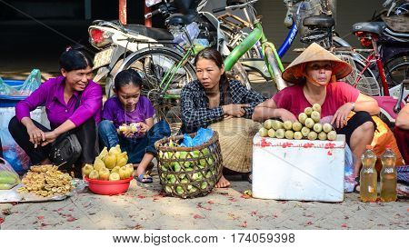 Rural Market In Sapa, Northern Vietnam