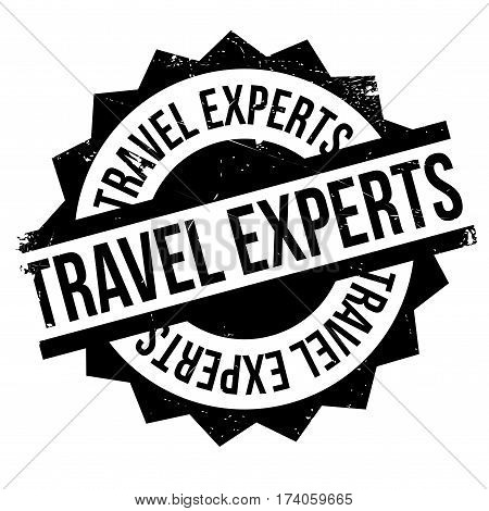 Travel Experts rubber stamp. Grunge design with dust scratches. Effects can be easily removed for a clean, crisp look. Color is easily changed.
