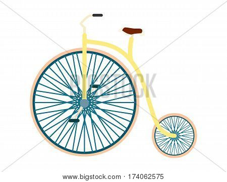 Bicycle vector isolated vector illustration in flat. Sport bicycle and everyday eco bicycle friendly transport. Flat bicycle icon on white background. Cartoon bicycle sign. Everyday bicyle icon. Simple bicycle illustration.