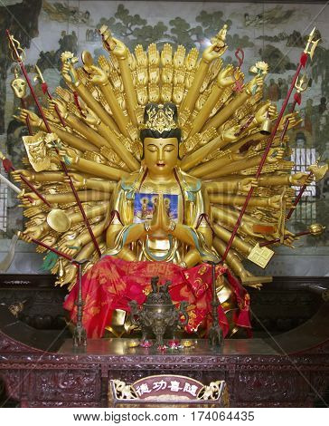 Maha Cundi Bodhisattva Asian sculpture monastery buddhist