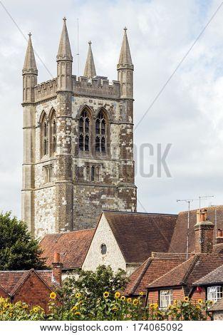Old church in an English town
