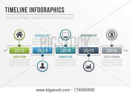 Timeline infographics template, workflow, process infographics, vector eps10 illustration