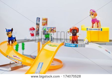Hai, Ukraine - March 1, 2017: Paw Patrol Station With Road. Canadian Animated Television Series Crea