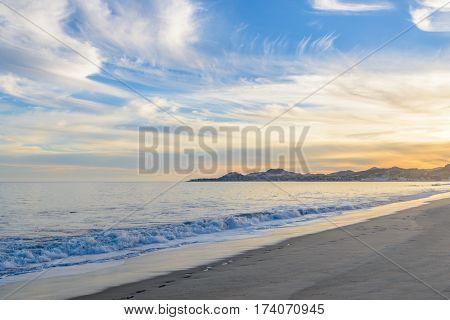 Cloudy sunrise sky. San Jose del Cabo. Mexico.