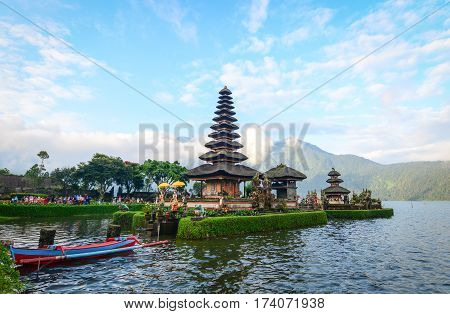Pura Ulun Danu Temple In Bali, Indonesia
